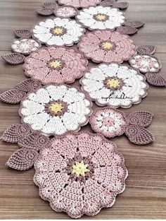 Ideas Crochet Coasters Table Runners Doily Patterns For 2019 Crochet Doily Diagram, Crochet Motifs, Crochet Mandala, Afghan Crochet Patterns, Crochet Flowers, Doilies Crochet, Crochet Tablecloth, Crochet Poncho, Crochet Home