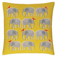 Buy Habitat Topsy Elephant Pattern Cushion - Yellow at Argos. Thousands of products for same day delivery or fast store collection. Elephant Cushion, Cat Cushion, Cushion Pads, Small Cushions, Scatter Cushions, Cushions On Sofa, Floor Cushions, Yellow Throw Pillows, Yellow Cushions