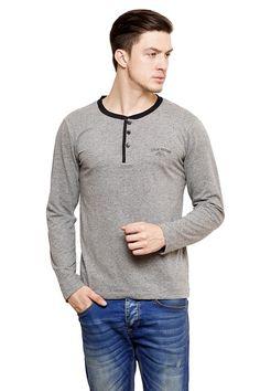 Mens Full Sleeve Grey T-Shirt
