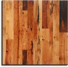 Cabin-grade Wormy Chestnut flooring with three coats of a natural Waterlox Tung oil finish