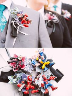 A Wedding with Colorful Comic Book Charm {Cosmopolitan