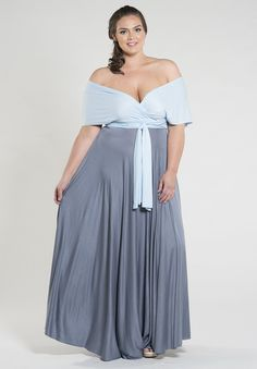 b03dfe39bc3 Our best-selling Eternity plus size maxi dress is back in limited duo  shades! This is one dress you can wrap dozens of ways
