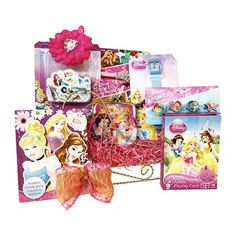 Best Christmas Gift for girls FREE GIFTWRAP!!! This beautiful Get Well Gift Baskets for girls golden sleigh with great Princes's novelties Get Well gifts for that special princess in your life with perfect Christmas gift basket for girls All Birthday and Get Well Gift Baskets are beautifully arranged in a golden sleigh to savor the spirit of Occasion Original and Licensed Disney Princess novelties Birthday gifts for girls, ages 3-8