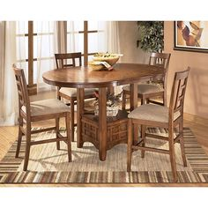 the ashley 39 cross island 39 5 piece dining room set offers a taste of