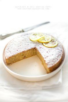 Torta con mandorle e limone (simil caprese al limone)