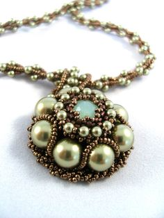 Pearl Pendant - Beaded Necklace