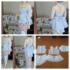 51 Ideas for sewing patterns tops link Kebaya Peplum, Batik Kebaya, Batik Dress, Pola Kebaya Kutubaru, Kebaya Brokat, Dress Sewing Patterns, Blouse Patterns, Clothing Patterns, Diy Fashion