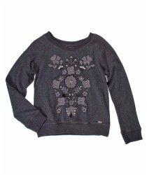 5233456-Gris-19-4007 Graphic Sweatshirt, Sweatshirts, Sweaters, Fashion, Little Girl Clothing, Gray, Moda, Fashion Styles, Trainers