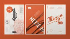 These posters are part of an identity design project I did for Mezzo 200. It's a rally inspired by the famous road races of the 20th century.
