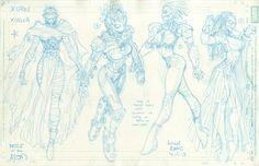 Arthur Adams - Xorna - X-Men Battle Of The Atom character designs