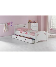 Buy Mia Single Bed Frame - White at Argos.co.uk - Your Online Shop for Children's beds, Children's beds.