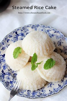 CHINESE STEAMED RICE CAKE recipe is pillow soft and snow white, made with coconut milk. In China, it's usually served as a dessert between meals or with tea and would be a gracious accompaniment to any meal.