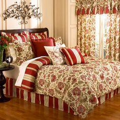 Waverly Imperial Dress Brick 4pc Queen Comforter Set