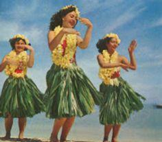 Vintage Hula Dancer photo.