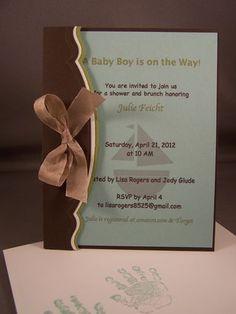 Baby Shower Invitation using Stampin Up Nursery Necessities