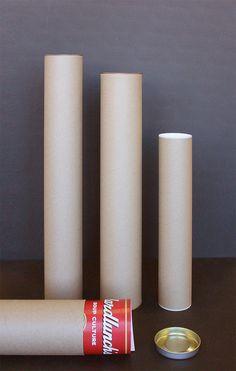 Картонные тубусы для упаковки, пересылки рисунков, картин, иллюстраций Pillar Candles, Candles