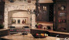Eldorado Stone - Kitchen - Brick, stone, tile, granite