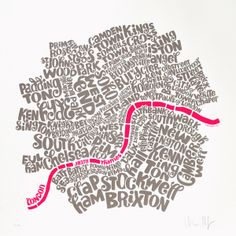 Map of Central London by Ursula Hitz