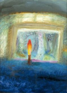 Candle, Eigg | Winifred Nicholson  1980. I have loved this painting and this artist for a very long time.