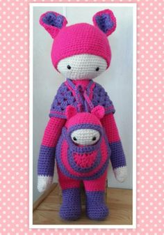 KIRA the kangaroo made by Ria C. / crochet pattern by lalylala