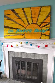 Oh Happy Day Reclaimed wood pallet board art tutorial