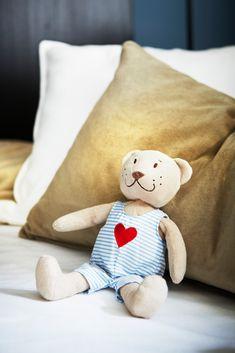 Recycling, Teddy Bear, Beige, Throw Pillows, Fabric Animals, Cuddling, Kids, Valentine Day Love, Toss Pillows