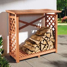 A more attractive option for storing firewood
