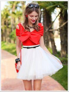 Morpheus Boutique  - Red Bow Cotton Floral Long Sleeve Top