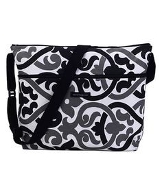 Loving this Black & Gray Barcelona Messenger Diaper Bag on #zulily! #zulilyfinds