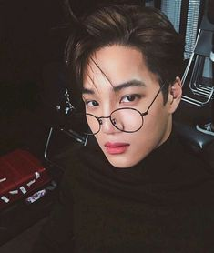 exo in - kim jongin by яσcкs✞αя on We Heart It kai hot selca glasses Exo Kai, Baekhyun, Kaisoo, Chanbaek, Bts And Exo, Kris Wu, Mark Wahlberg, Jackson Wang, Matt Bomer