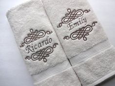 YOU PICK Size Personalized Bath Towels, wedding gift, graduation gift, custom gift, personalized gift, hand towel by AugustAve, $22.00