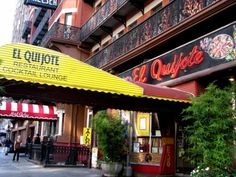 El Quijote, ground level of the Chelsea Hotel - New York Nyc Must Do, I Love Nyc, Best Places To Eat, Great Places, Sleep Drink, Chelsea Hotel, Bad Mom, New York Christmas, Lounge