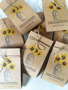 Sunflower Seed Favors 60 Wedding Favor Spread The Love Fall