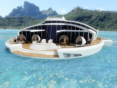 future, Solar Floating Resort, SFR, Michele Puzzolante, luxury, futuristic, yacht, watercraft, solar power, vehicle