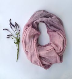Lavender Scarf  Pure Linen Shawl   Long Linen Scarf  by lyralyra, $29.00