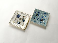 Pair of Vintage Mid Century Nevco Mosaic by GatewayHeirlooms
