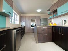 Easylife Kitchens is the leader in affordable premium Kitchen Manufacturing and Design. We offer professional design and installation of Kitchen, Bathroom, Bars, Vanities and Built in Cupboards across Southern Africa. Wood Colors, Colours, Built In Cupboards, Kitchen Cabinets, Vanity, Modern, Blue, Design, Home Decor