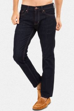 Providing unbeatable comfort and a great fit are these finely tailored dark blue denim jeans that you can slip into for most casual occasions.Buy Here: http://zovi.com/slim-stretch-fit-dark-blue-denim-jeans-with-contrast-stitching--11259202201