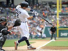 Tigers' Ian Kinsler (3) hits a two-run home run in