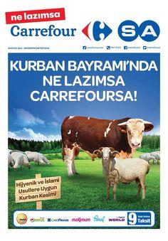 Kurban Bayramı'nda ne lazımsa CarrefourSA.  *İslami şartlara uygun kurban kesimi