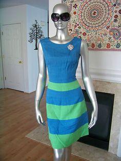 60's colorblock dress.