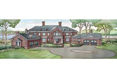 ePlans Georgian House Plan –8299 Square Feet and 4 Bedrooms from ePlans – House Plan Code HWEPL76013