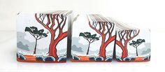 "Tree cane #35 "" Salmon Gums in the Mist 2"" by Wendy Jorre de St Jorre."