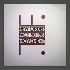 New Order / Movement Album Cover | Typophonic