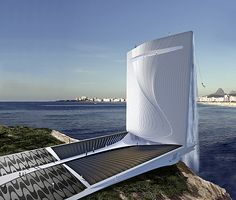 Solar Energy Generating Waterfall Tower for Rio 2016 Olympic Games : This solar energy generating tower is going to be located on the coast of Rio de Janeiro. It is one of the first buildings that are being designed for the 2016 Rio Olympics. This solar energy generating tower looks like an enormous waterfall. The Solar City Tower is designed by Swiss (Zurich-based) company – RAFAA Architecture & Design. It features a large solar system to generate energy during the day and a pumped water storag