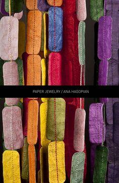 preciosas joyas de papel de Ana Hagonian.