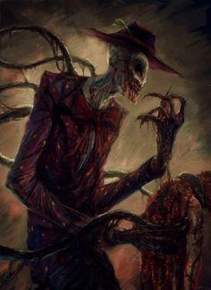 Creepy Splendorman by David Romero (xpost r/ImaginaryCarnage) Horror Art, Horror Movies, Creepy Art, Scary, Dark Fantasy, Fantasy Art, Creepypasta Proxy, Arte Obscura, Monster Art