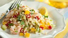 Couscous citronné aux crevettes - une recette simple et facile à cuisiner