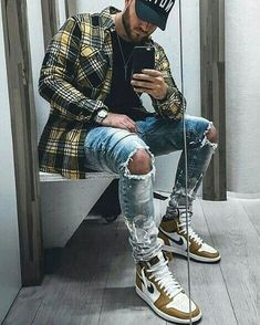 58 Trendy Summer Men Fashion Ideas For You To Try - Although most of us are . - 58 Trendy Summer Men Fashion Ideas For You To Try – Although most of us as men seem to be careles - Jordans Outfit For Men, Swag Outfits Men, Summer Outfits Men, Stylish Mens Outfits, Mode Outfits, Summer Men, Urban Style Outfits Men, Men Jordan Outfits, Sneakers Outfit Men