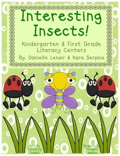 This 34-page insect themed packet is filled with 7 hands-on, engaging, literacy activities to use with Kindergartners or First Graders! Your studen...